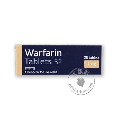 香港代购 华法林钠片/华法令/华法林1毫克28片装 (Warfarin Tablets BP 1mg 28 tablets)